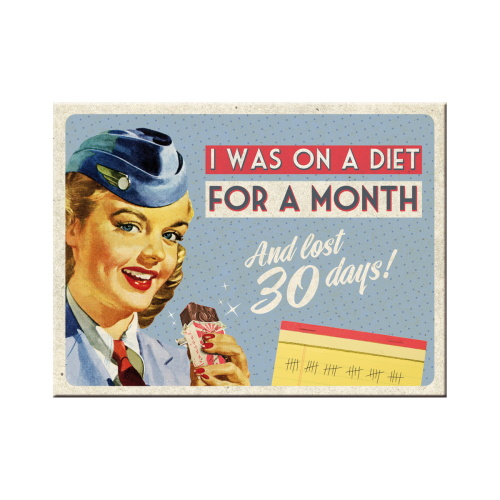 Nostalgic Art Magnet: On A Diet For A Month