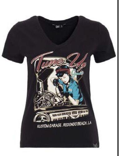Queen Kerosin Classic T-Shirt Tune Up - Schwarz