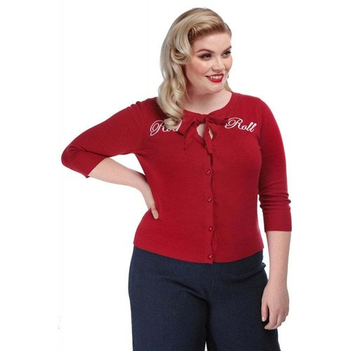 Collectif Cardigan Charlene Rock Roll rot