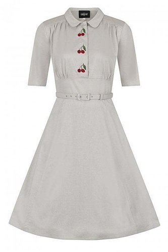 Collectif Schwingkleid Doriane Kirsche