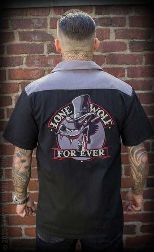 "Rumble59 Worker Shirt ""Lone Wolf forever"""