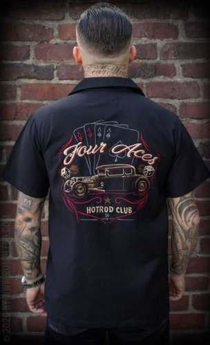 "Rumble59 Lounge Shirt ""Four Aces schwarz"""