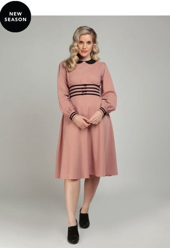 Collectif Schwingkleid Maeve pink